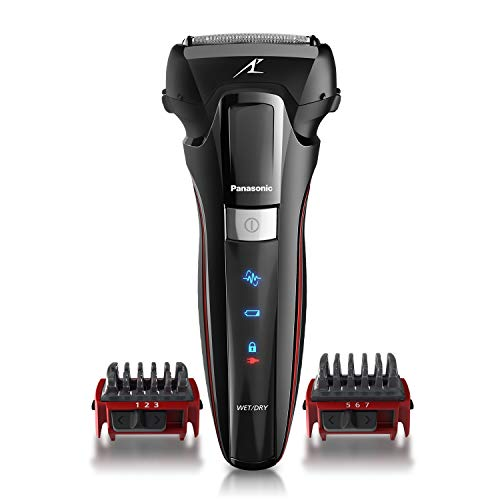 Panasonic Hybrid Wet Dry Shaver, Trimmer & Detailer with Two Adjustable Trim Attachments,- Cordless Razor for Men - ES-LL41-K (Black)