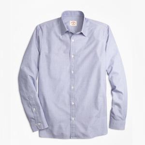 Brooks Brothers布克兄弟纯棉通勤休闲正装长袖衬衫