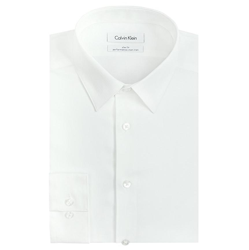 Calvin Klein  男士免熨修身正装衬衫