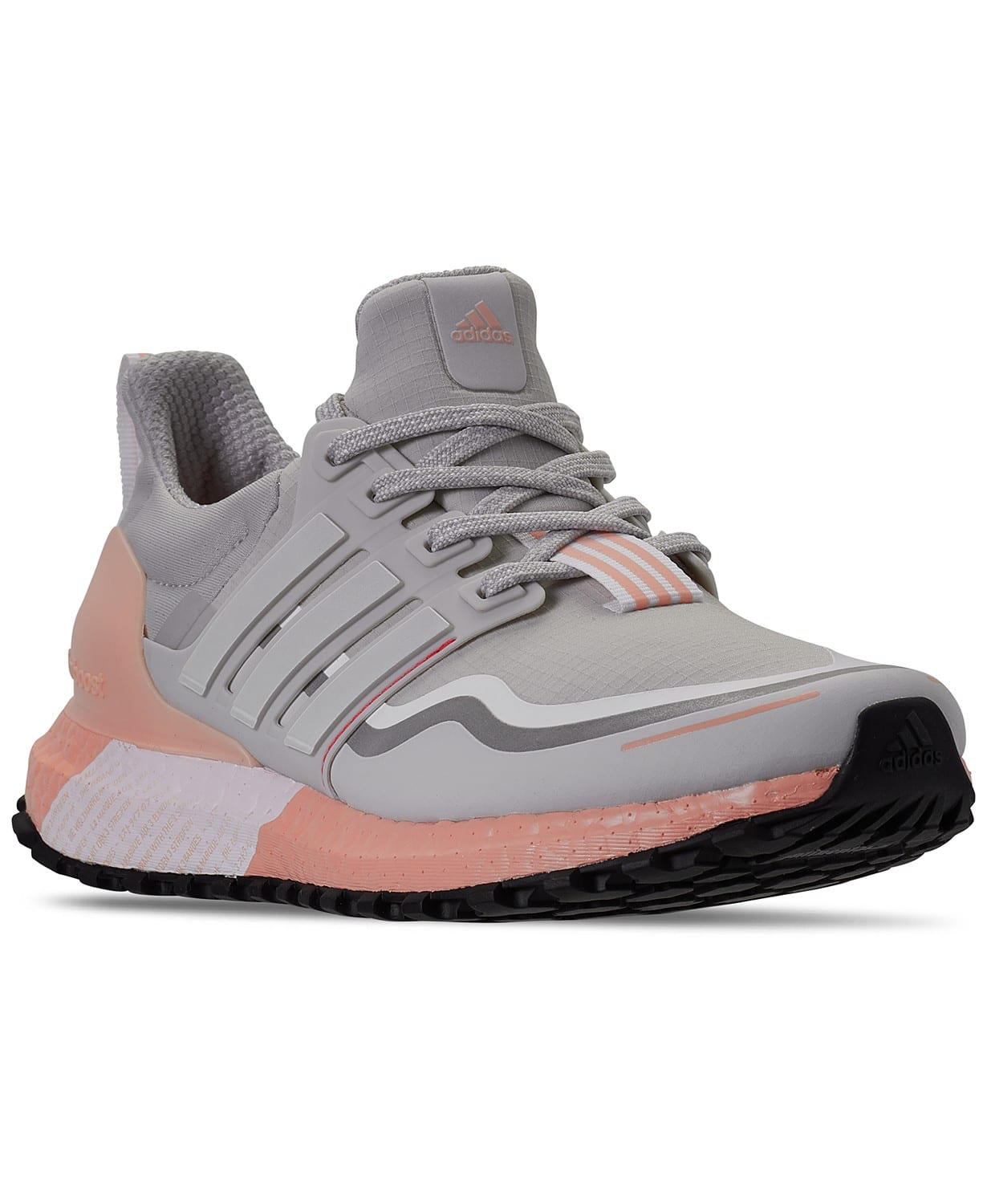 adidas Women's Ultraboost Guard Running Sneakers (grey/white/pink)