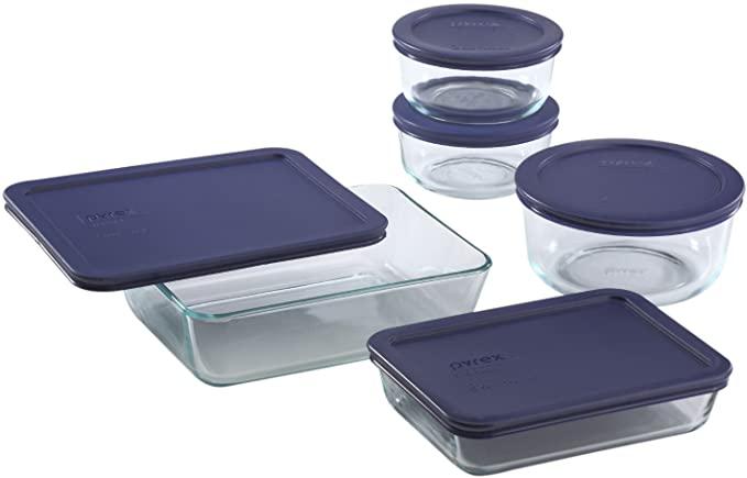 销量最佳PYREX玻璃保鲜盒10件套,微波炉安全