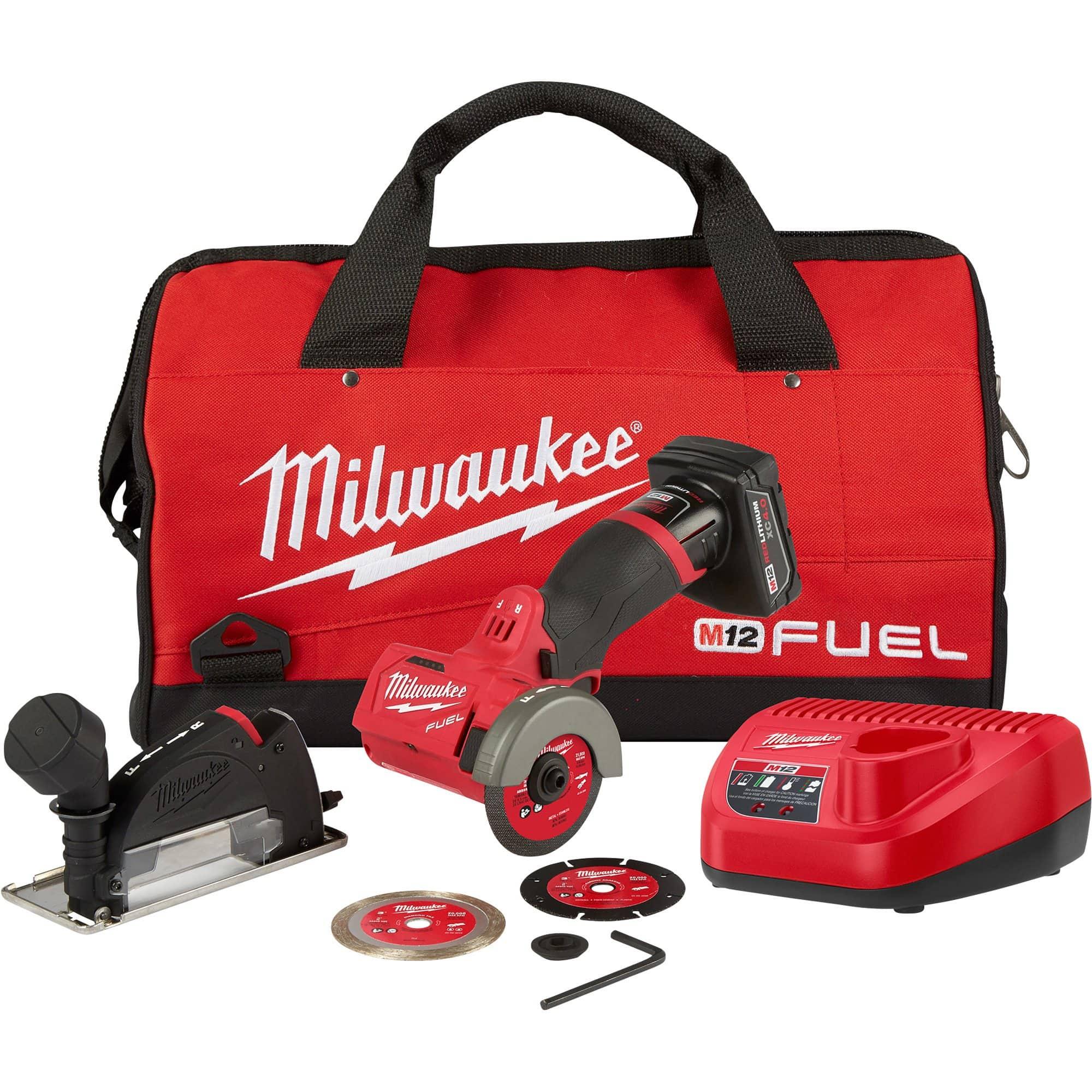 "Milwaukee M12 FUEL 12V Brushless 3"" Cut Off Saw Combo Kit"