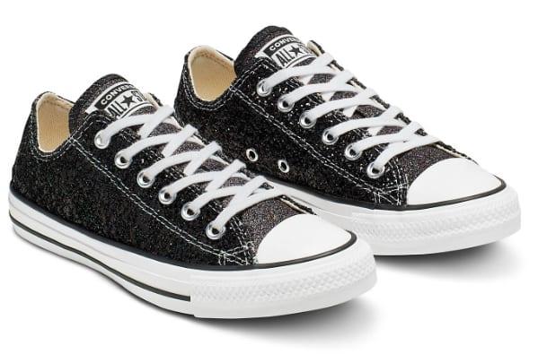 Women's Footwear: Converse Chuck Taylor All Star Dust Low Top Shoes (Black)
