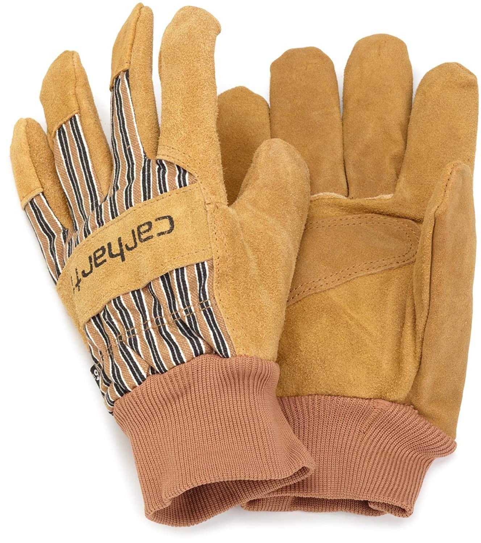 Carhartt Men's Insulated Suede Work Gloves w/ Knit Cuff (S-L)