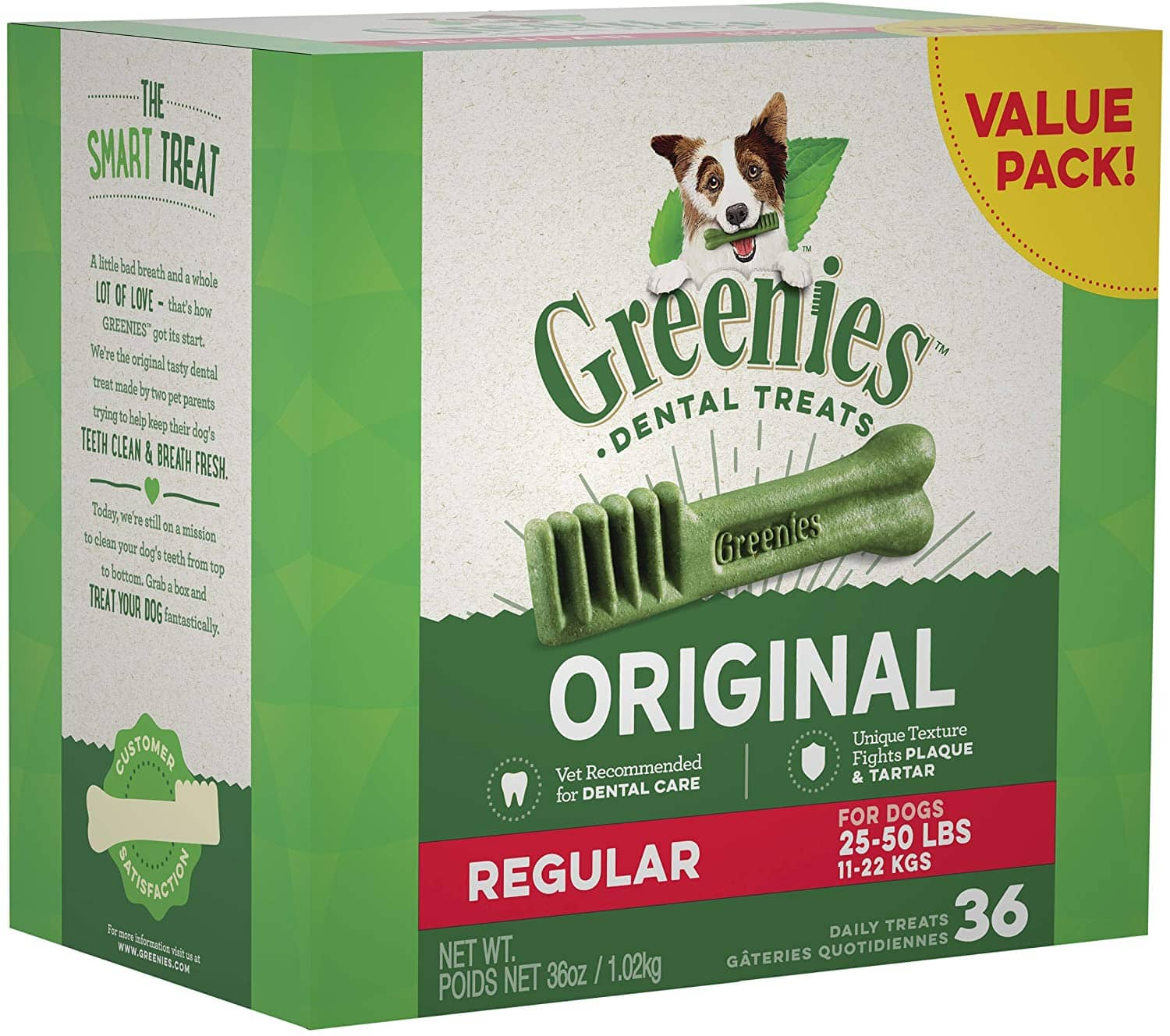 Select Amazon Accts: 36-Ct. Greenies Regular Natural Dental Dog Treats