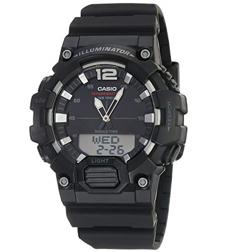 史低价!Casio卡西欧 HDC-700-1AVCF男士日本石英数码多功能手表