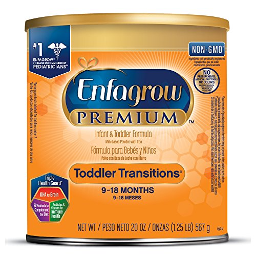 Enfagrow PREMIUM Non-GMO Toddler Transitions Formula - Powder can, 20 oz