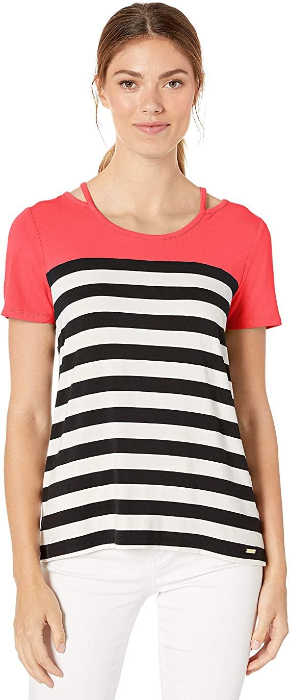 Calvin Klein 圆领短袖女式T恤