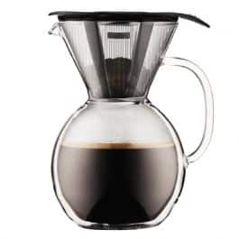 8-cup Bodum Pour Over Double Wall Glass Coffee Maker w/ Glass Handle