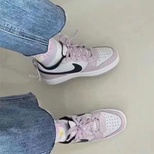 big4.5补货!Nike Court Borough Low 2樱花粉大童款板鞋