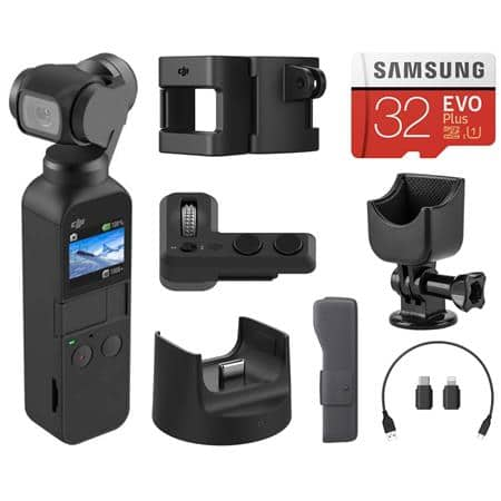 DJI Osmo Pocket 3-Axis Gimbal Stabilized Handheld 4K Camera w/ DJI Expansion Kit