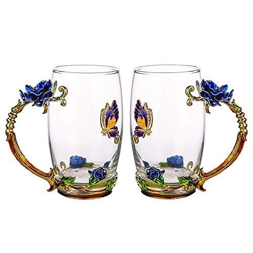造型别致又高雅的手工制作玻璃茶杯