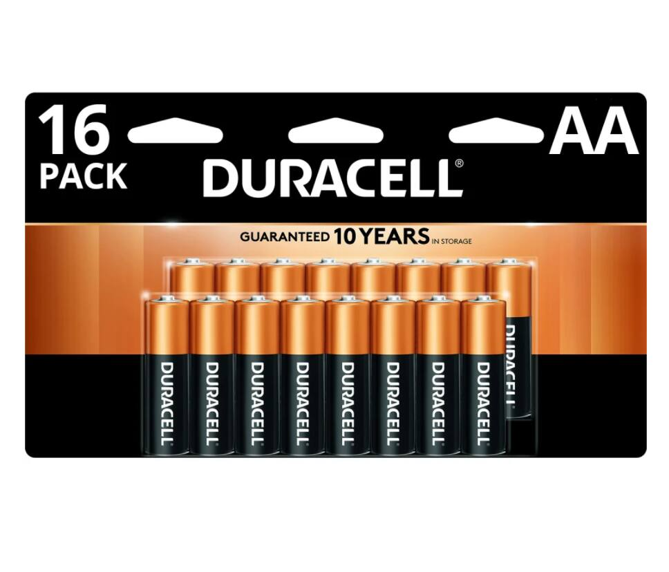 Duracell 16-Pack AA/AAA or 24-Pack AA Batteries + 100% Back in Rewards