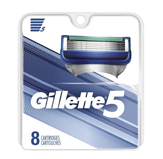 Gillette 5 男士剃须刀替换头 8个