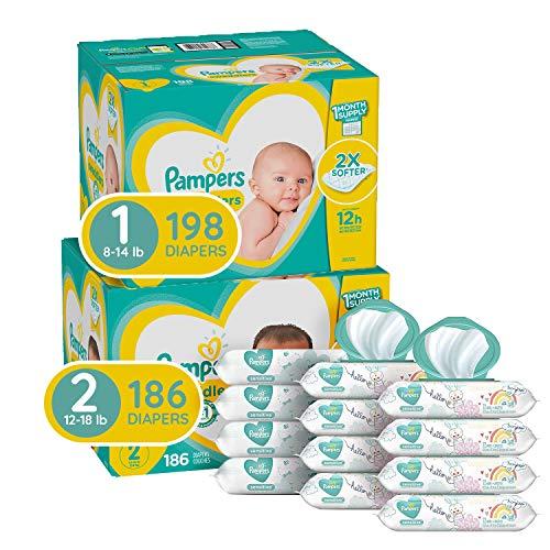 Pampers 新生 婴儿 尿布、湿巾 套装,可满足2个月的使用量,点击Coupon后仅售