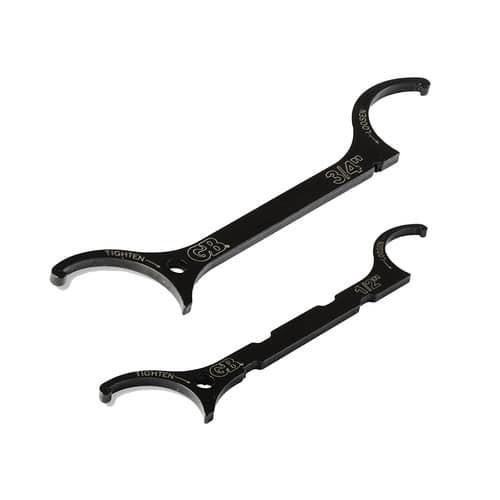 """2-Piece Gardner Bender Locknut Wrench Set (1/2"""" + 3/4"""")"""