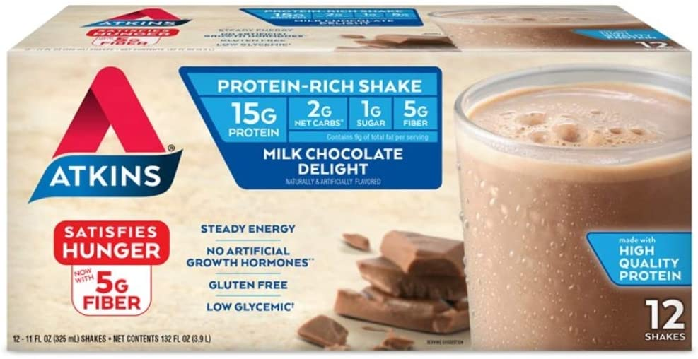 Atkins代餐奶昔美味又减肥,宅家必备好物