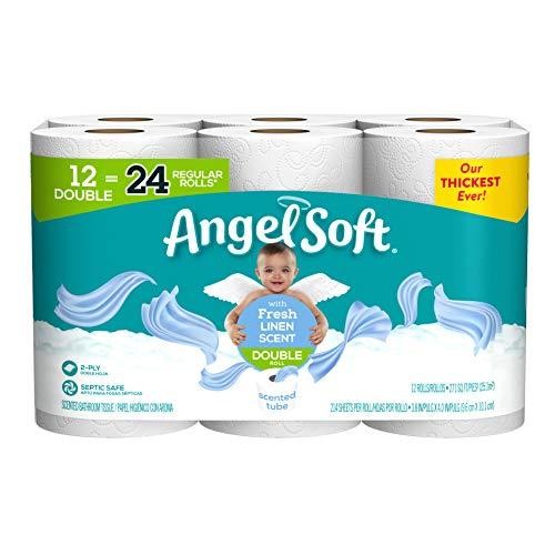 Angel Soft 厕所卫生纸, 12超大卷