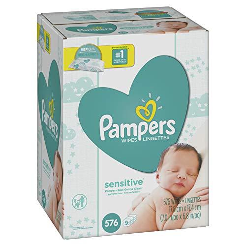 Pampers 帮宝适敏感型婴儿湿巾,576 片,点击Coupon后仅售