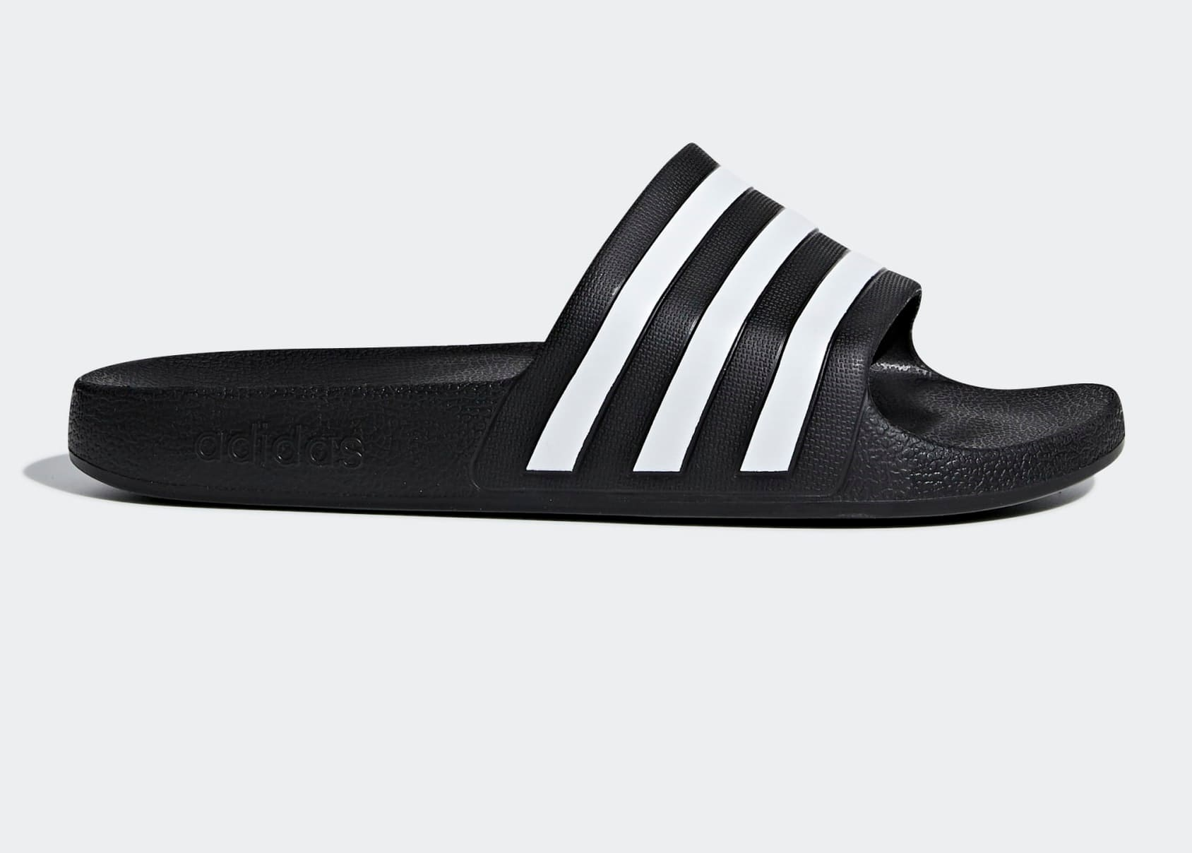 adidas Adilette Aqua Slides (Core Black/Cloud White)