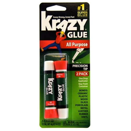 2-Count 2g Krazy Glue All Purpose Super Glue w/ Precision Tip