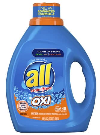 All Laundry Detergent: 88oz Detergent w/ OXI or 36-ct Free Clear Pacs