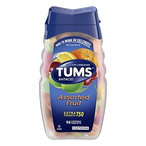 居家必备! 史低价!TUMS Antacid 抗胃酸咀嚼钙片, 96颗粒