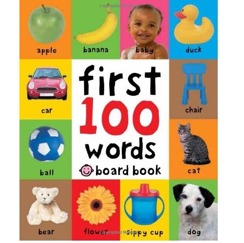 热销的幼儿启蒙读物:《First 100 Words》硬板书