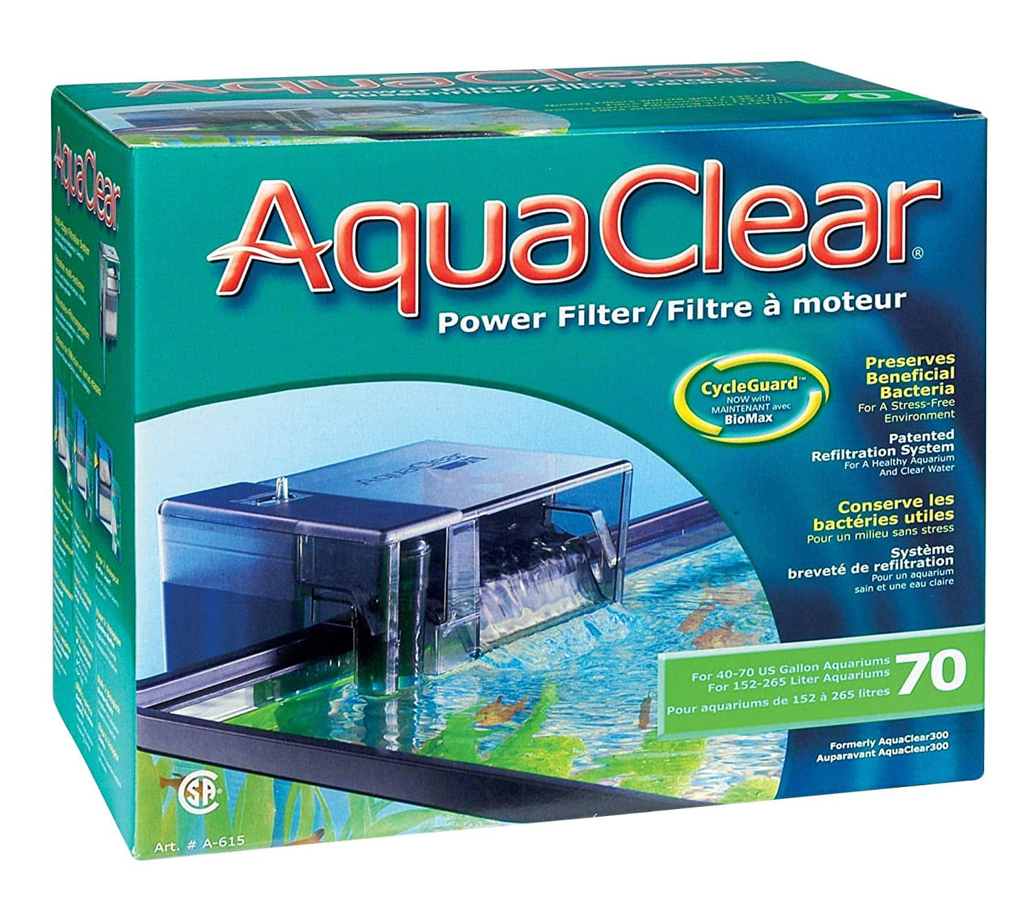 AquaClear CycleGuard Fish Tank Power Filter