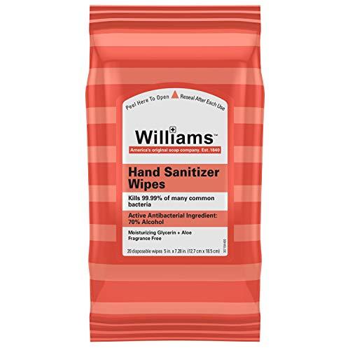 Williams 酒精 消毒杀菌湿巾,20片