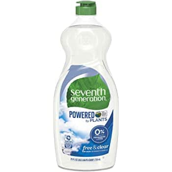 25oz Seventh Generation Dish Liquid Soap (Free & Clear)