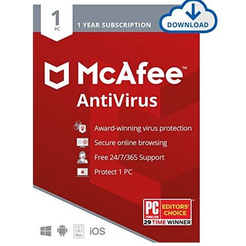 McAfee Total Protection 计算机安全全面保护套装2020年版,一台设备