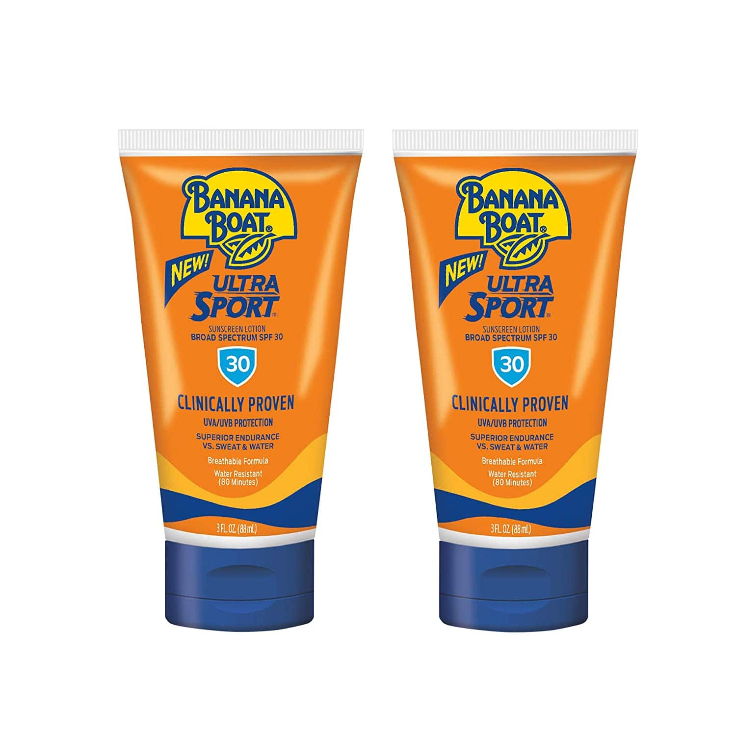 2-Pack 3oz Banana Boat Ultra Sport SPF 30 Sunscreen Lotion