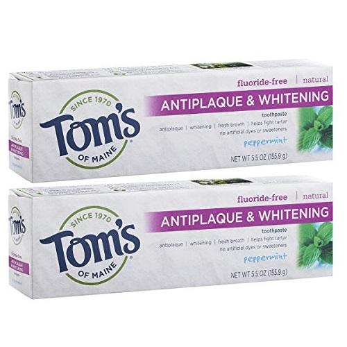 Tom's of Maine 预防牙菌斑无氟美白牙膏