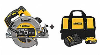 "DeWALT 20-Volt MAX Li-ion Brushless 7-1/4"" Circular Saw + 5.0Ah Battery Kit"