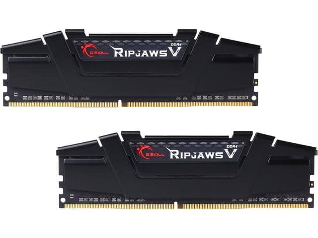 16GB (2x8GB) G.Skill Ripjaws V Series DDR4 3600 Desktop Memory
