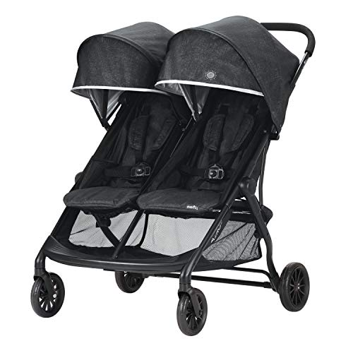Evenflo Aero2 Ultra-Lightweight Double Strollers, Compact, Self-Standing Folding Design