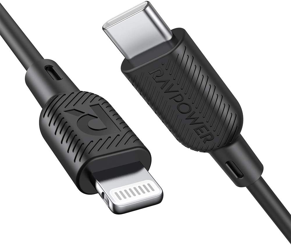 3' RAVPower USB-C to Lightning Cable w/ Power Delivery Fast Charging