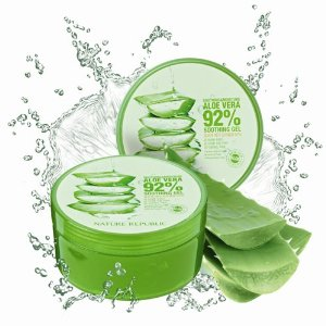 Nature Republic New Soothing Moisture Aloe Vera Gel 92 Percent Korean Cosmetics, 10.56 Fluid Ounce.