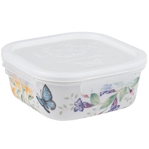 Lenox 名瓷蝶舞花香 密封 白瓷 方形 储放碗