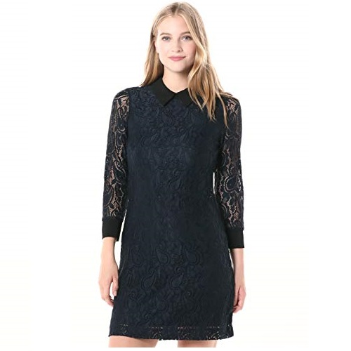 Tommy Hilfiger Women's Collared Lace Dress