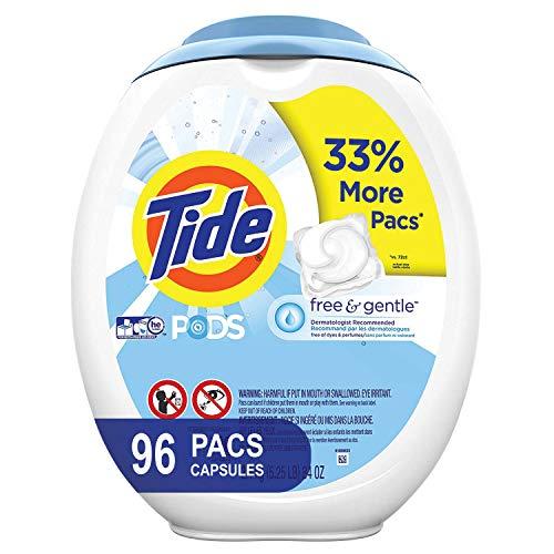 史低价!Tide 速溶果冻洗衣球,过敏肌肤可用,96只装