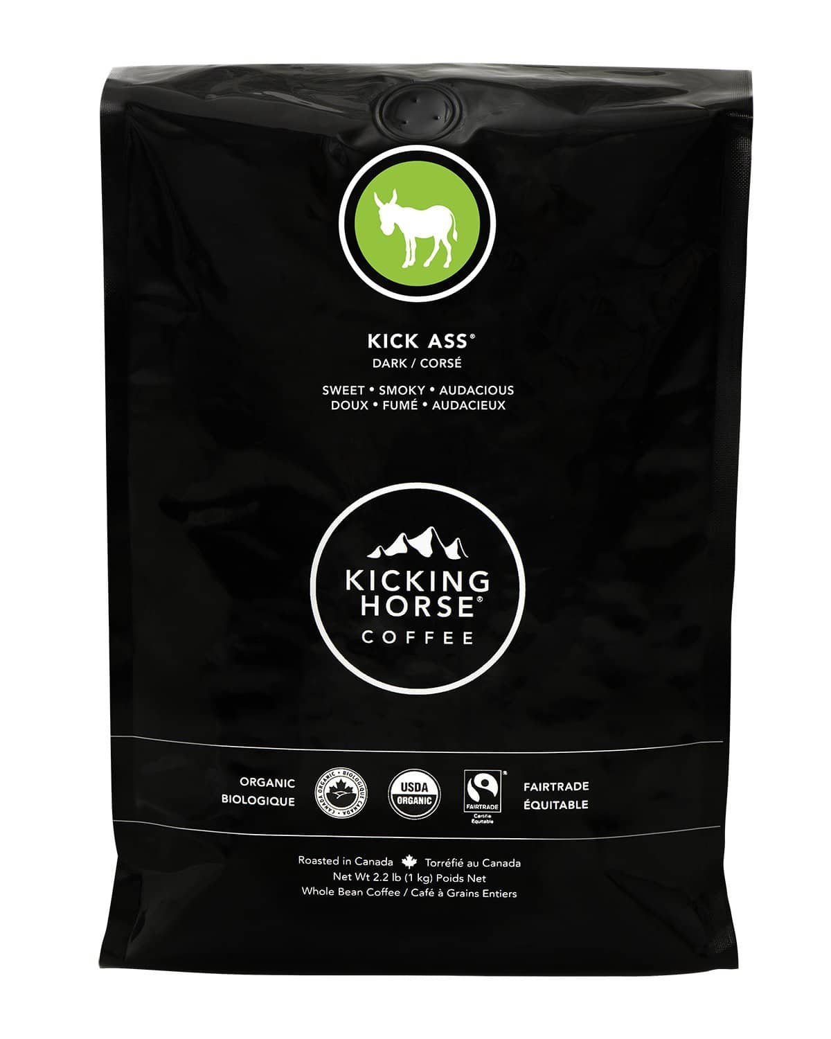 2.2-lb Kicking Horse Whole Bean Organic Coffee (Various)