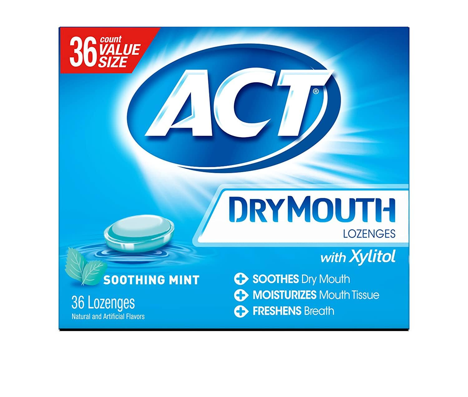 36-Count ACT Dry Mouth Lozenges