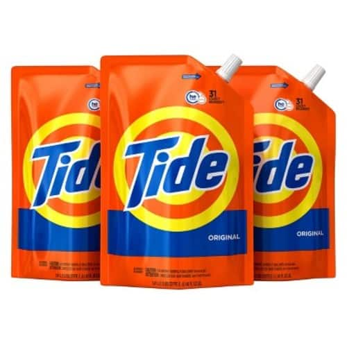 3-Pack 48oz. Tide HE Laundry Detergent Pouches (Free & Gentle)