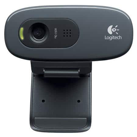 Logitech C270 HD 720p USB 2.0 Wired Webcam