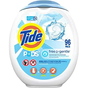 96-Ct Tide Pods Laundry Detergent Pacs (Free and Gentle)