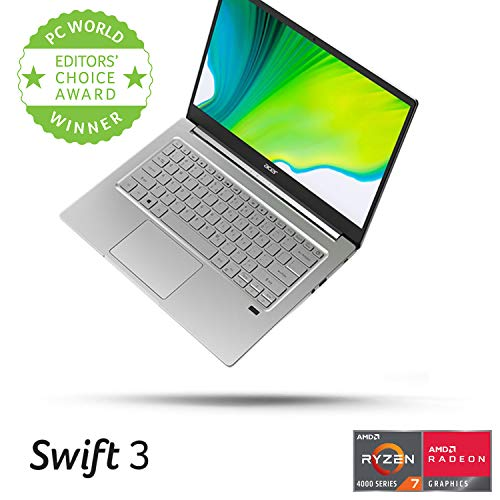 "Acer Swift 3 Thin & Light Laptop, 14"" Full HD IPS, AMD Ryzen 7 4700U Octa-Core Processor with Radeon Graphics, 8GB LPDDR4, 512GB NVMe SSD, SF314-42-R9YN"