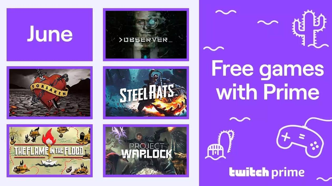 Twitch Prime: PCDD: Observer, Forsaken Remastered, Project Warlock & More