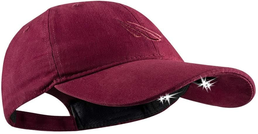 Panther Vision Powercap LED 25/10 Headlamp Hat (Burgundy)